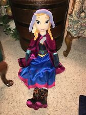 "DISNEY FROZEN ANNA LARGE PLUSH DOLL 26"" Jay Franco &a Sons #C3"