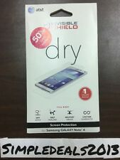 ZAGG INVISIBLE SHIELD dry Full BODY SCREEN PROTECTION For SAMSUNG GALAXY Note 4