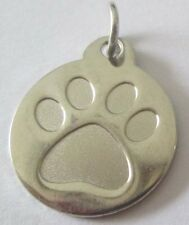 Silver 30mm Paw PUNCH Dog Pet Cat Pet Disc Dog Tag or Cat tag Engraved DD10