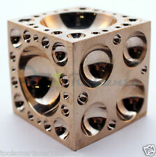 Brass Dapping Doming Block Jewlers Metalworking Metal Jewelry Shaping Tool 29mm