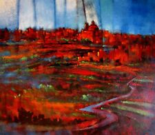 "STUNNING NEW CHRISTOPHER SALIBA ORIGINAL ""After the Storm""  ABSTRACT PAINTING"