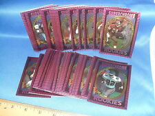 1993 WILDCARD FOOTBALL - SUPERCHROME ROOKIES COMPLETE SET (50) NFL CARDS !LQQK!