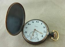 New Old Stock! Swiss PRIVILEGE Black Steel Hunter Case POCKET WATCH Cal. 18""