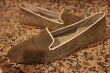 NWOB EMERSON FRY SUEDE TAUPE IVROY TRIM LOAFER FLAT 40 US 9 (TACO500