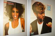 *AA153 WHITNEY HOUSTON GEORGE MICHAEL'1987  FRENCH CLIPPING