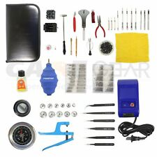 51Pcs Watch Repair Tool Kit  Case Opener, Hand Remover, Spring Bars , Case Press