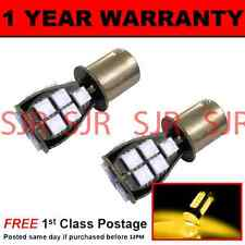 382 1156 BA15s P21W AMBER 18 SMD LED FRONT INDICATOR LIGHT BULBS X2 FI201201
