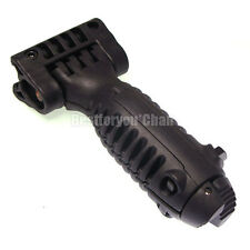 Tactical Airsoft Foldable Foregrip Bipod Stand Holder Rail Adjustable T-Pod BK