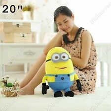 20 Inch Big 50 cm Despicable Me Minion Dave Soft Plush Stuffed Teddy Doll Toy