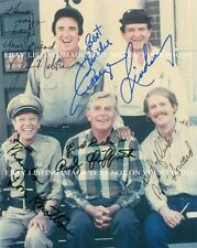 THE ANDY GRIFFITH SHOW CAST AUTOGRAPHED 8x10 RP PHOTO BY 5 DON KNOTTS JIM NABORS