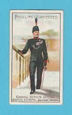 MILITARY - PHILLIPS - VERY RARE BRITISH SOLDIER CARD - M665 - ROYAL RIFLE - 1900