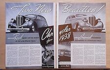 1937 two page magazine ad for Chrysler - 1938 Imperial & Royal, Phenomenal