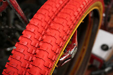 Snakebelly 26 x 2.125 BMX cruiser tire RED/GUM WALL (1 pair)
