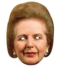 Margaret Thatcher 2D Card Party Face Mask Fancy Dress Politician Tory Iron Lady