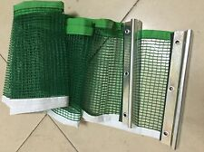 NEW Ping Pong Table Tennis Net Green Replacement Nylon Net +Metal Post Set