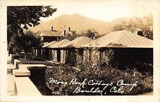 Real Photo Postcard Moss Rock Cottage Camp in Boulder, Colorado~111407