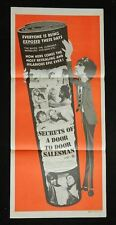 DAYBILL MOVIE POSTER - ORIGINAL - SECRETS OF A DOOR TO DOOR SALESMAN  R