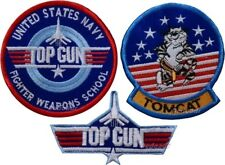 Set Top Gun Embroidered Patches Logo Tomcat Navy School Maverick Iceman USA F-14