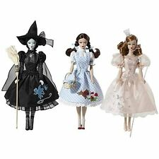 Barbie Vintage Retro Wizard Of Oz Glinda Dorathy Wicked Witch Doll Set **NEW**