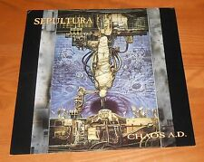 Sepultura Chaos A.D. Poster 2-Sided Flat Square 1993 Promo 12x12 RARE