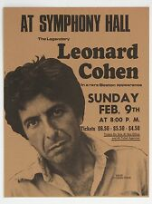 "Leonard Cohen Boston 16"" x 12"" Photo Repro Concert Poster"
