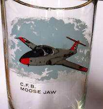 vintage GLASS verre CFB MOOSE JAW  snow birds 15 WING Canadair CT-114 Tutor RCAF