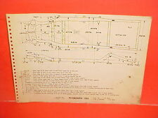 1955 PLYMOUTH BELVEDERE CONVERTIBLE SAVOY PLAZA FRAME DIMENSION CHART 55