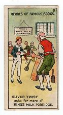 Original UK Trade Card Kings Specialities Heroes of Famous Books #6 Oliver Twist