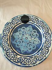 Cynthia Rowley Spanish Tile MELAMINE Dinner Plates Set 2 Outdoors /Indoors