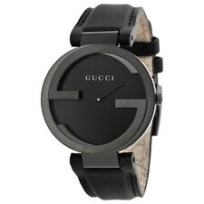Gucci Interlocking G Black PVD Stainles sSteel Ladies Watch YA133302