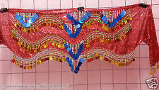 New Egyptian Professional Belly Dance Hip Scarf Bead Coins luxury made egyp WC 4