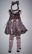 TCP Children's Place Leopard Kitty Princess Costume w tights 6 9 12 mo Halloween