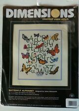"Dimensions Counted Cross Stitch Kit #3891 ""Butterfly Alphabet"" New!"