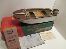 FLEETLINE DOLPHIN BOAT WITH MERCURY 55 OUTBOARD MOTOR IN ORIGINAL BOX EXCELLENT