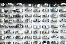 WHOLESALE 100ps MIX LOT STAINLESS STEEL RINGS STOCK CLOSEOUTS SALE BULK Big Size