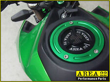 Area 22 Kawasaki Pro Z125 2016 CNC Keyless Fuel Cap Carbon Fiber Inlay Green