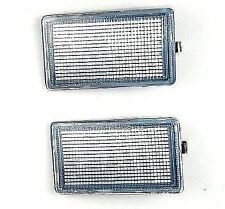 VW GOLF III MK3 / VENTO 1991-1999 Front Bumper Short Reflector Set Clear Pair