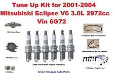 Tune Up Kit For 01-04 Mitsubishi Eclipse V6 Spark Plug Wire Set, Distributor Cap