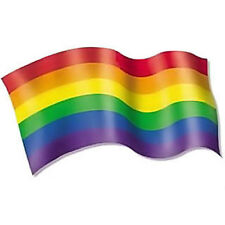 Pride Shack - Rainbow Pride Wave Flag Decal LGBT Gay and Lesbian Bumper Sticker