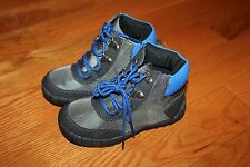 NWT Gymboree King of Cool Size 10 Gray Blue Lace Up Boots Shoes