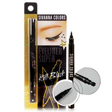 [SIVANNA COLORS] HF640 KILL BLACK Eyeliner Super Star with Tattoo Stamper 2g