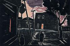 Incorniciato stampa-Oswaldo goeldi l'uomo della strada (Pittura foto poster arte)