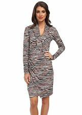 NWT $158 - TOMMY BAHAMA Tiger Tide Long Sleeve Dress, Color - Mink, Size SMALL