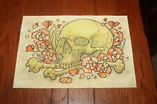 Original Painting Watercolor Pen Godmachine The Doldrums Mondo Poster Artist