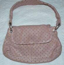 GAP small perforated leather bag Pink leather lined with pink fabric. Very good