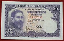 España 25 pesetas billete 1954 P 147a