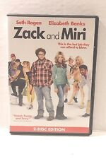 Zack and Miri DVD Movie 2009 2-Disc Edition Seth Rogen & Elizabeth Banks Comedy
