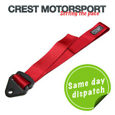 TRS Ajustable Remolque Ojo strap/loop Rojo (MSA cumple) race/rally/competition