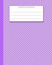 Composition Notebook : 8 X10 - Purple Gingham Cover from Scrawlables. com by...