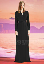 $2,300 GUCCI GOWN SILK SHIRT DRESS FRONT BUTTON CLOSURE POCKETS sz IT 38 US 2